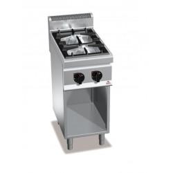 Cocina a gas 2 fuegos con soporte - Berto's Macros 700