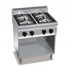 Cocina a gas 4 fuegos con soporte - Berto's Macros 700