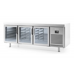 Taula refrigeració pastisseria Infrico MR 1620 CR - 2 portes vidre