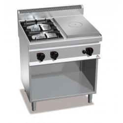 Cocina a gas 2 fuegos + coup de feu - Berto's Macros 700