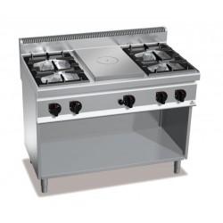 Cocina a gas 4 fuegos + coup de feu - Berto's Macros 700