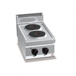 Cocina eléctrica sobremesa 2 fuegos - Berto's Macros 700