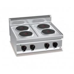 Cocina eléctrica sobremesa 4 fuegos - Berto's Macros 700