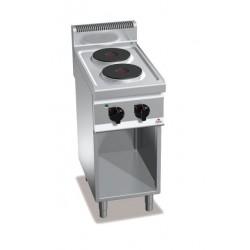 Cocina eléctrica 2 fuegos con soporte - Berto's Macros 700