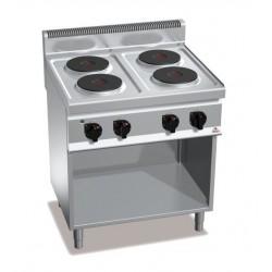Cocina eléctrica 4 fuegos con soporte - Berto's Macros 700