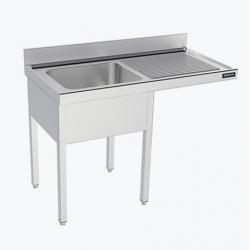 Fregadero 1 cuba con espacio para lavavajillas - fondo 60