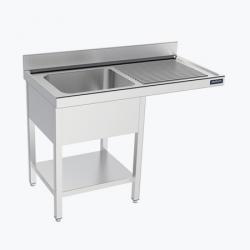 Fregadero 1 cuba con espacio para lavavajillas con estante - fondo 60