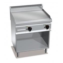 Fry top eléctrico acero rectificado con soporte - Berto's Macros 700
