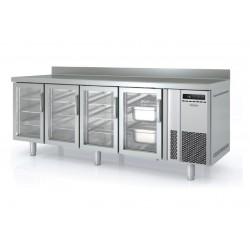 Bajomostrador refrigeración Docriluc 4 puertas cristal - BMR 250 V