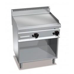 Fry top a gas acero rectificado con soporte - Berto's Macros 700