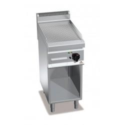 Fry top eléctrico cromo duro con soporte - Berto's Macros 700