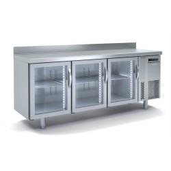 Bajomostrador congelación GN Docriluc 3 puertas cristal - BCG 180