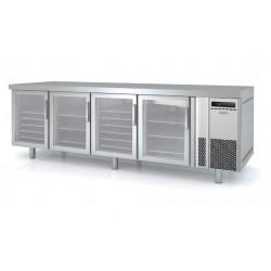 Bajomostrador pastelería 4 puertas cristal Docriluc - BPR-250-V