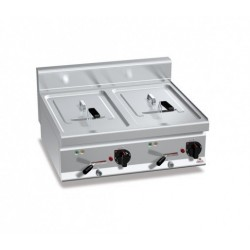 Freidora eléctrica de sobremesa 10 + 10 L - Berto's Macros 700