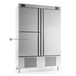 Armario refrigeración 3 puertas con departamento congelados Infrico Nacional 1000 L  – ANDBT 1003 TF