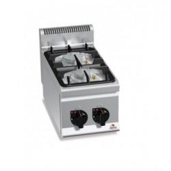 Cocina a gas 2 fuegos sobremesa - Berto's Plus 600 Power