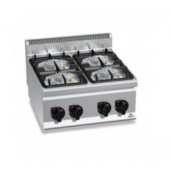 Cocina a gas 4 fuegos sobremesa - Berto's Plus 600 Power