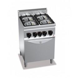 Cocina a gas 4 fuegos con horno - Berto's Plus 600 Power
