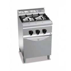 Cocina a gas 2 fuegos con horno - Berto's Plus 600 High Power