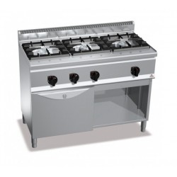 Cocina a gas 3 fuegos con horno - Berto's Plus 600 High Power
