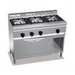 Cocina a gas 3 fuegos con horno maxi - Berto's Plus 600 High Power