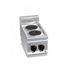 Cocina eléctrica 2 fuegos - Serie Berto's Plus 600