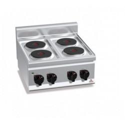 Cocina eléctrica 4 fuegos - Serie Berto's Plus 600
