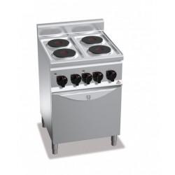 Cocina eléctrica 4 fuegos con horno - Serie Berto's Plus 600