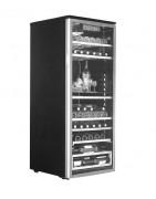 Expositores verticales o sobremesa indicados para la exposición de vinos, con diferentes capacidades y rangos de temperatura