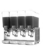 Distribuidoras refrigeradas profesionales de bebidas, con una, dos o tres cubas de policarbonato